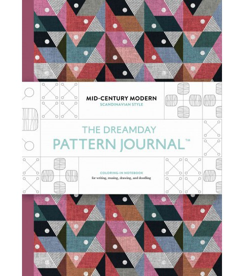 Dreamday Pattern Journal Mid-century Modern - Scandinavian Design : Coloring-in Notebook for Writing, - image 1 of 1