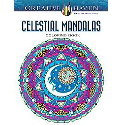 Creative Haven Celestial Mandalas Adult Coloring Book