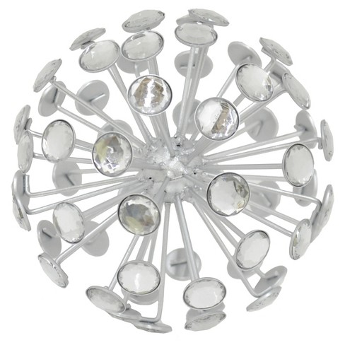 "Three Hands Jeweled Orb - Large - Silver (6.5"") - image 1 of 1"