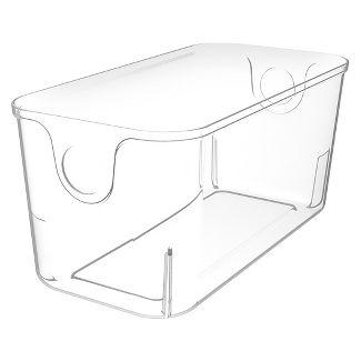 Home Logic Hefty 11u0022 Quarter Plastic Bin, Clear, used in most modular storage systems