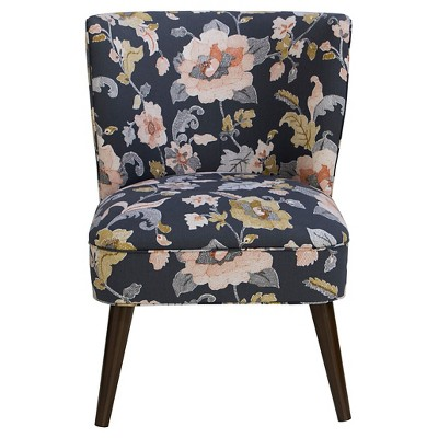 Lauren Curved Back Armless Chair Lalita Storm   Skyline Furniture®