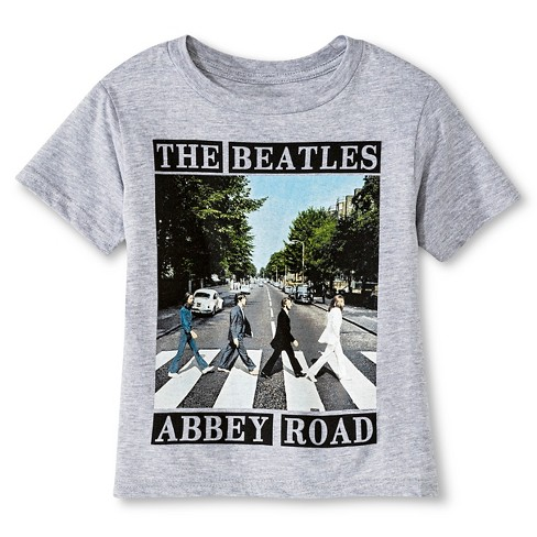 Beatles® Boys' Graphic T-Shirt - Heather Gray - image 1 of 1