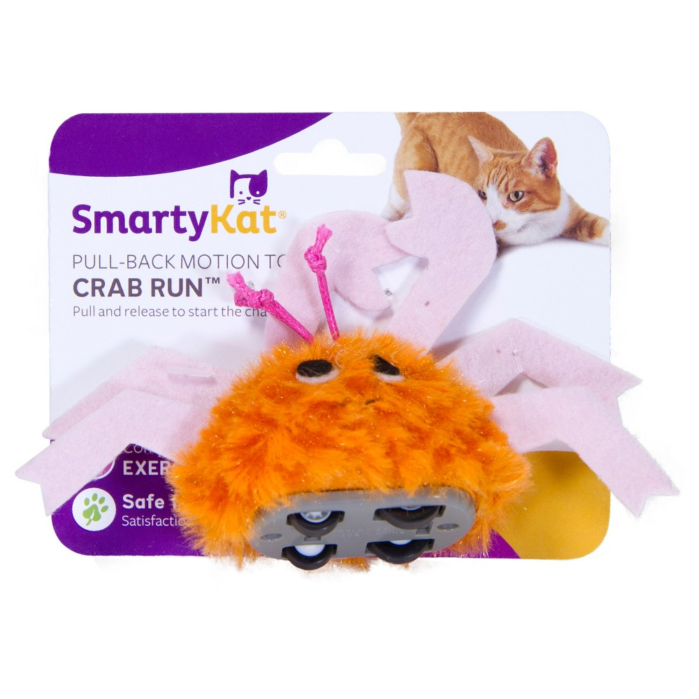 SmartyKat Crab Run Cat Toy, Multi-Colored