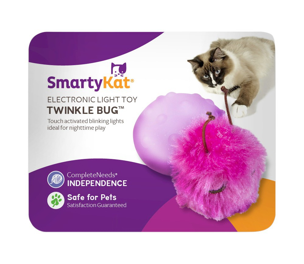 Smarty Kat Twinkle Bug Pet Toy, Multi-Colored