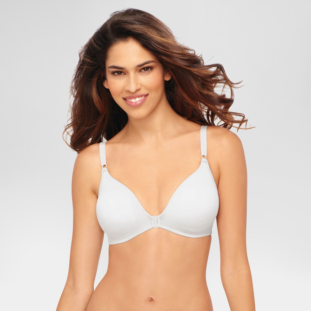 Hanes© Womens Back Smoothing Wirefree Bra G509 White M