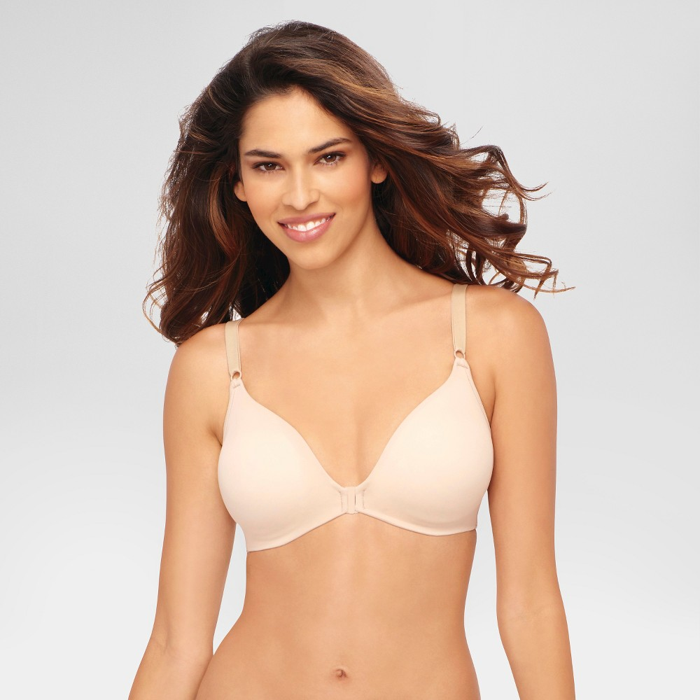 Hanes© Womens Back Smoothing Wirefree Bra G509 Nude XL, Beige