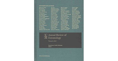 Annual Review of Entomology 2016 (Vol 61) (Hardcover) - image 1 of 1