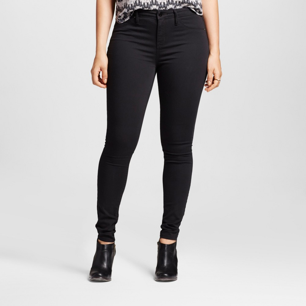 Womens Mid Rise Jegging Jean (Curvy Fit) - Mossimo Black 6R, Size: 6