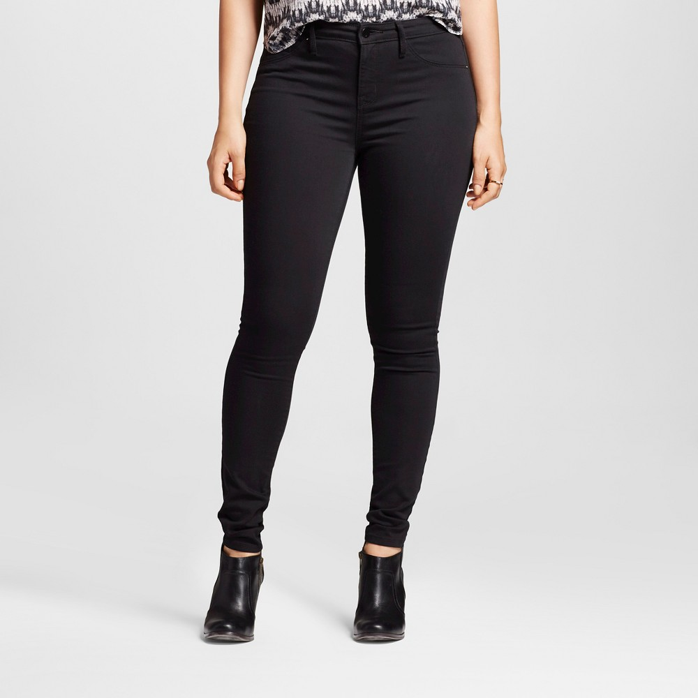 Womens Mid-rise Jegging (Curvy Fit) - Mossimo Black 0R, Size: 0
