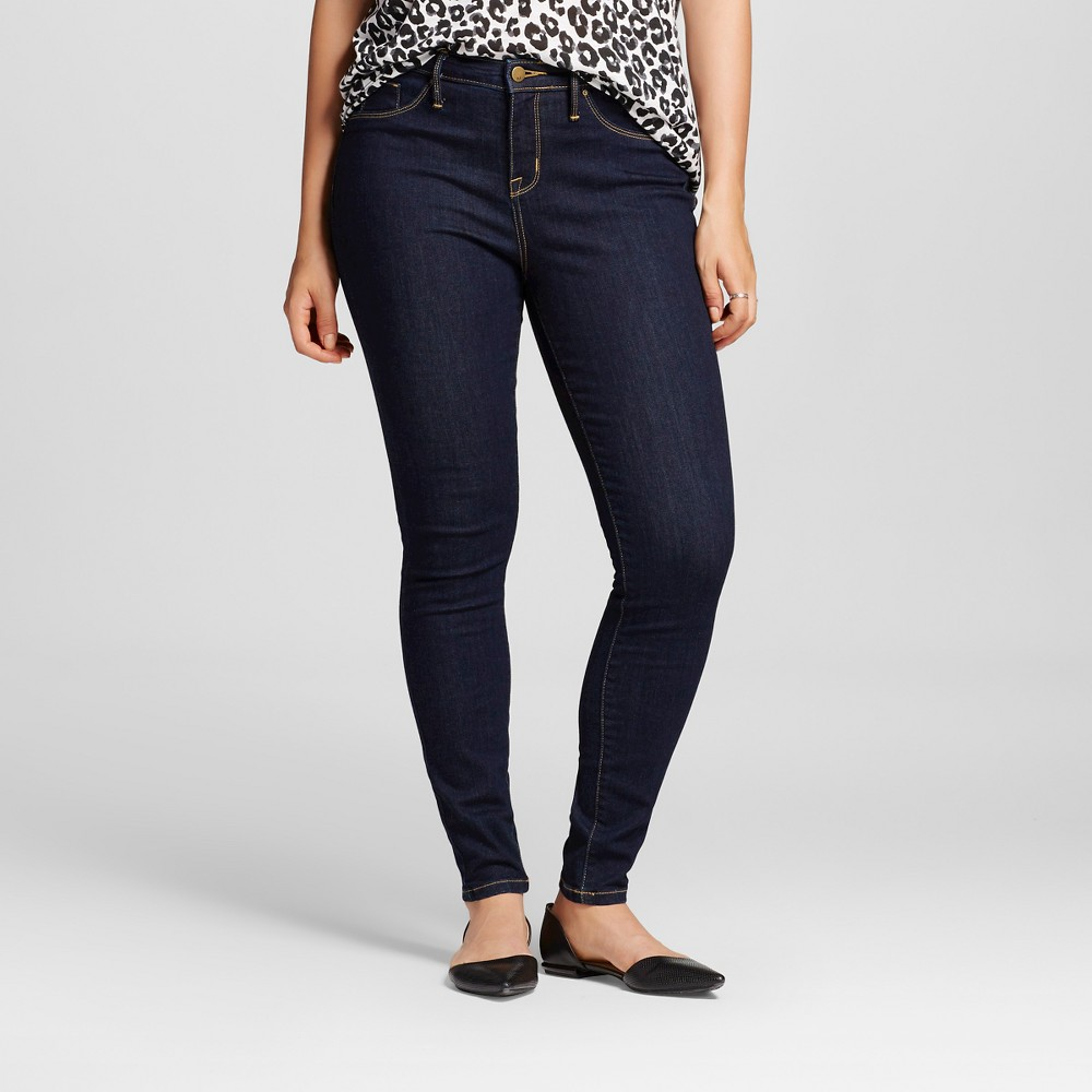 Womens Mid-rise Jegging (Curvy Fit) - Mossimo Rinse Wash 2R, Size: 2, Blue
