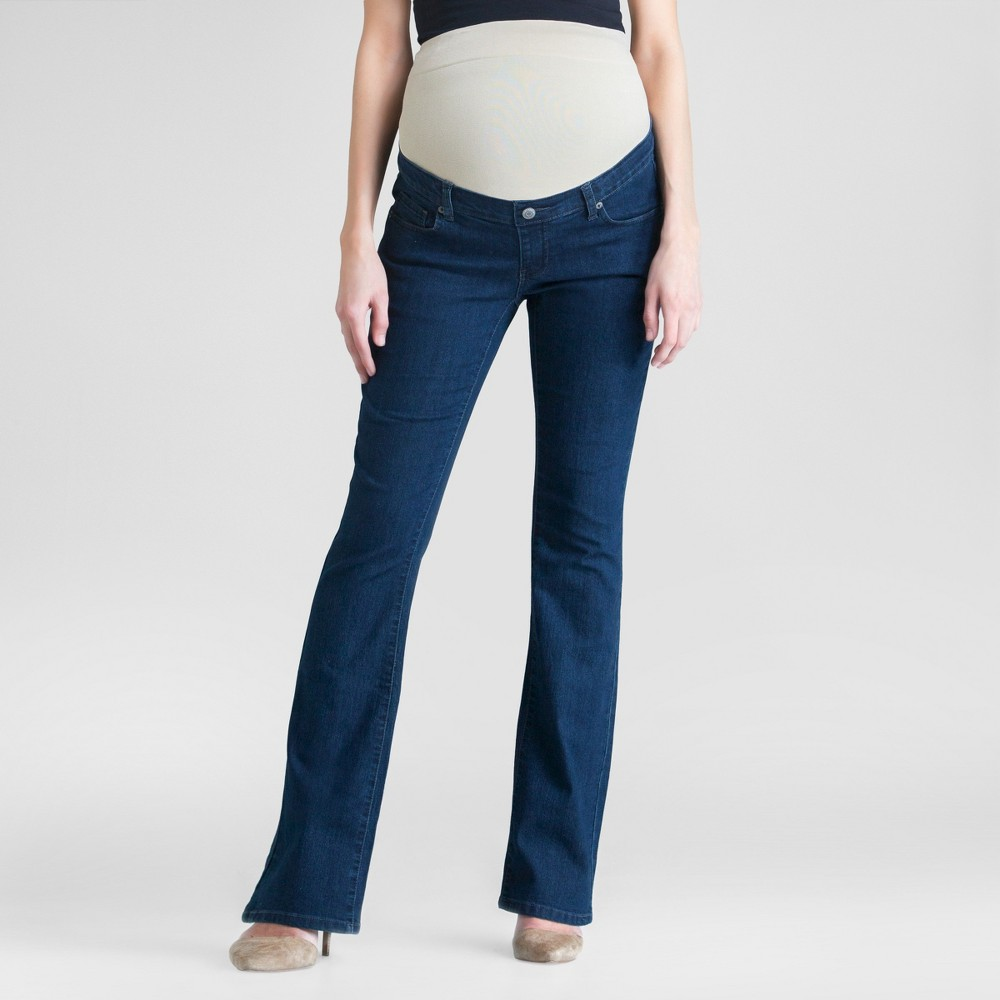 Maternity Dark Wash Bootcut Jeans Dark Blue S - Expected By Lilac, Womens