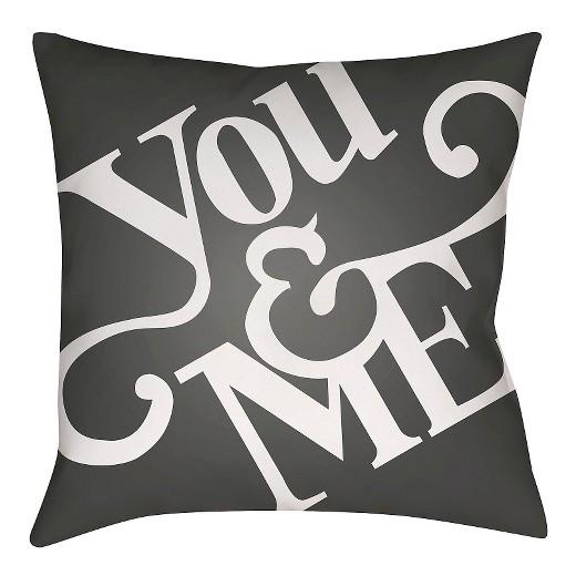 Throw Me A Pillow Coupon Code : Black You & Me Throw Pillow 18