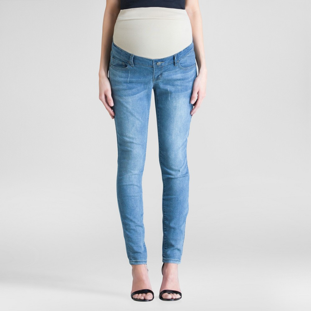 Maternity Skinny Jeans Light Denim M - Expected By Lilac,  Women' Blue plus size,  plus size fashion plus size appare