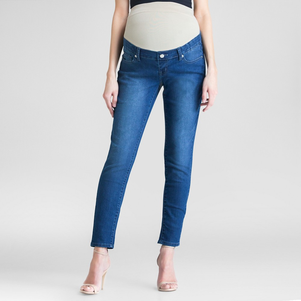 Maternity Skinny Medium Wash Jeans Dark Blue S - Expected By Lilac, Womens