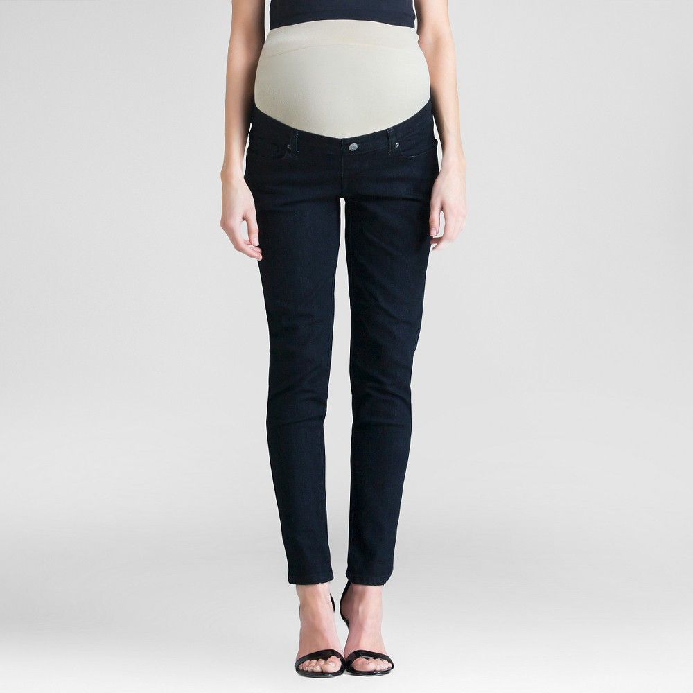 Maternity Black Wash Skinny Jeans Black Xxl - Expected By Lilac, Womens