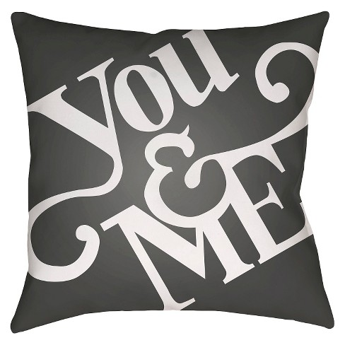 You & Me Throw Pillow - Surya - image 1 of 2