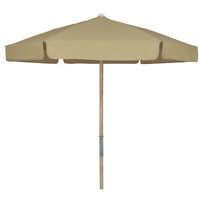 FiberBuilt 7.5u0027 Patio Umbrella Vinyl Weave Beige