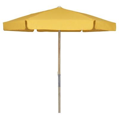 FiberBuilt 7.5u0027 Patio Umbrella Vinyl Weave Yellow