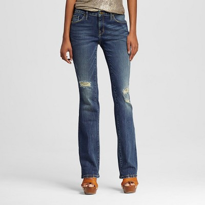 Womens coloured bootcut jeans