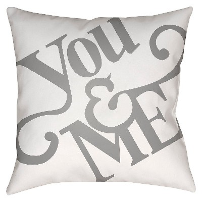Gray You & Me Throw Pillow 20 x20  - Surya