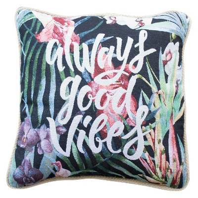 Good Vibes Throw Pillow (16X16)- Hot Now®