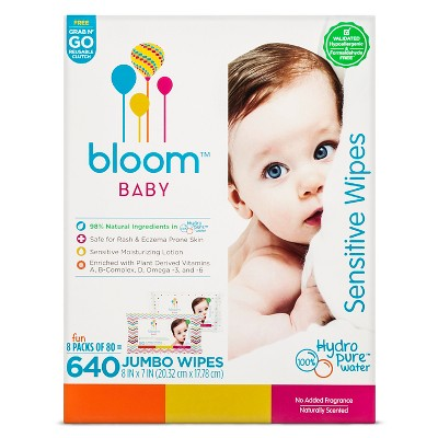Bloom Baby Wipes - 640 ct