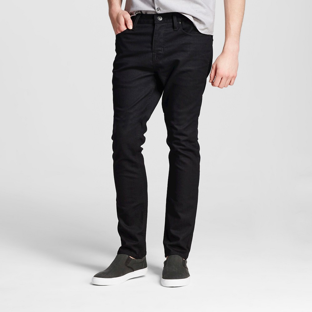 Mens Slim Fit Jeans Black 42x32 - Mossimo Supply Co.