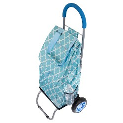 dbest Products Trolley Dolly - Moroccan Tile - Multipurpose Collapsible Cart
