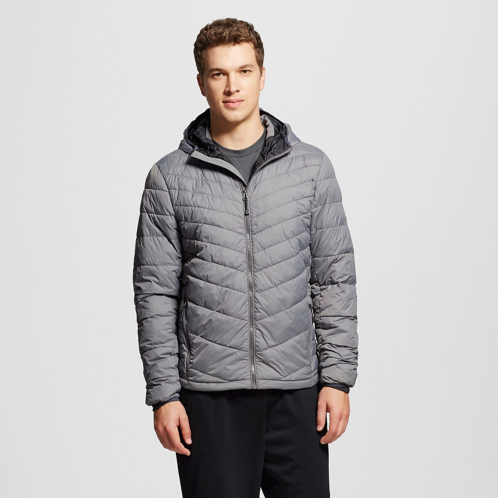 Mens Lightweight Puffer Jacket - C9 Champion Power Gray 2XL, Size: Xxl