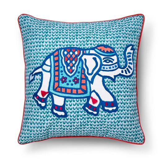 Blue Elephant Toss Pillow (18