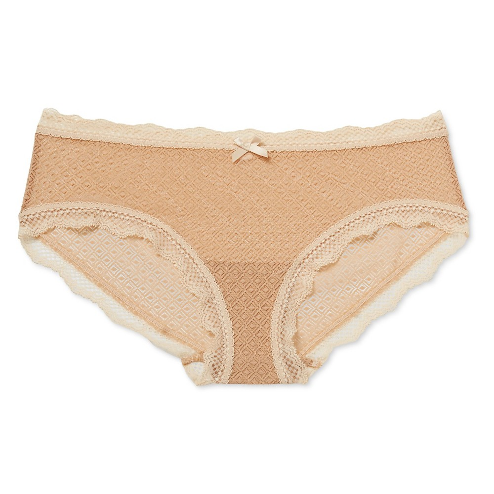 Womens Mesh Hipster Buff Beige XL
