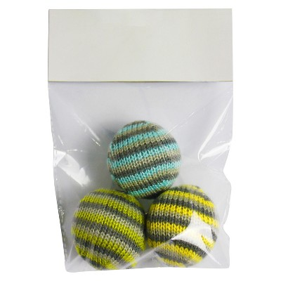 Cat Toy Knit Balls Multicolored 2 pk - Boots & Barkley™