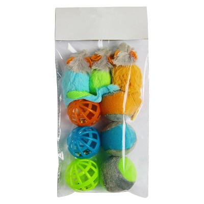 Cat Toys Multipack Multicolored 9 pk - Boots & Barkley™