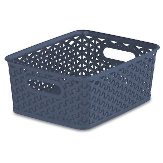 Y Weave Small Storage Bin Navy Room Essentials