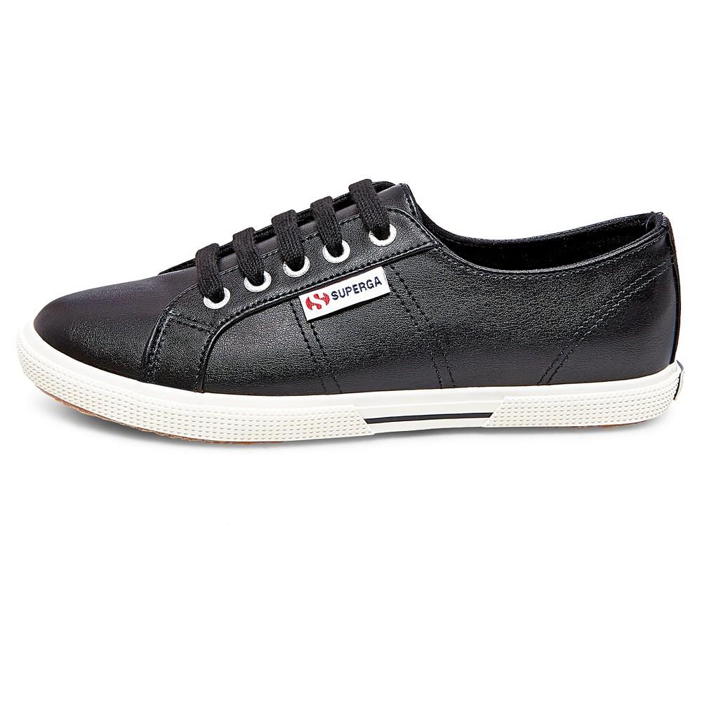 Womens Superga Low Top Sneakers- Black 8