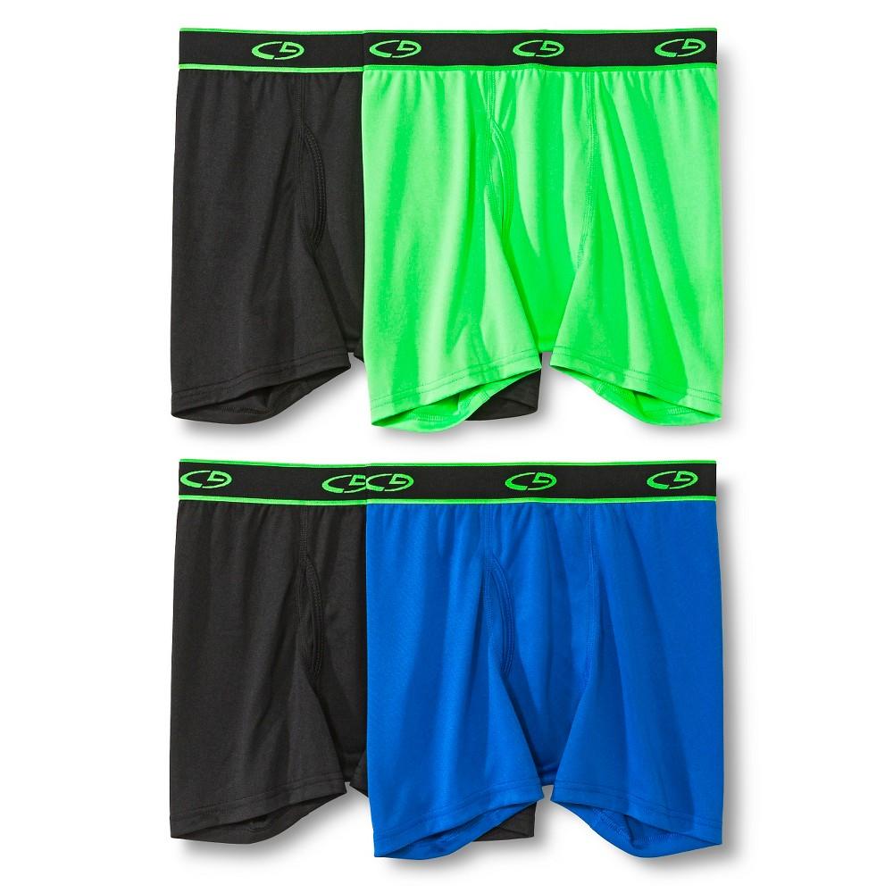 Boys 4pk Boxer Briefs - C9 Champion Black/Green/Gray S, Multicolored