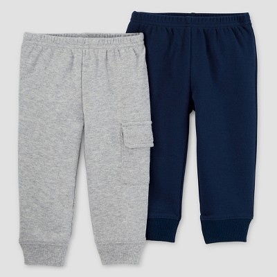 Baby Boys' 2pk Pants - Just One You™ Made by Carter's® Navy/Gray 9M