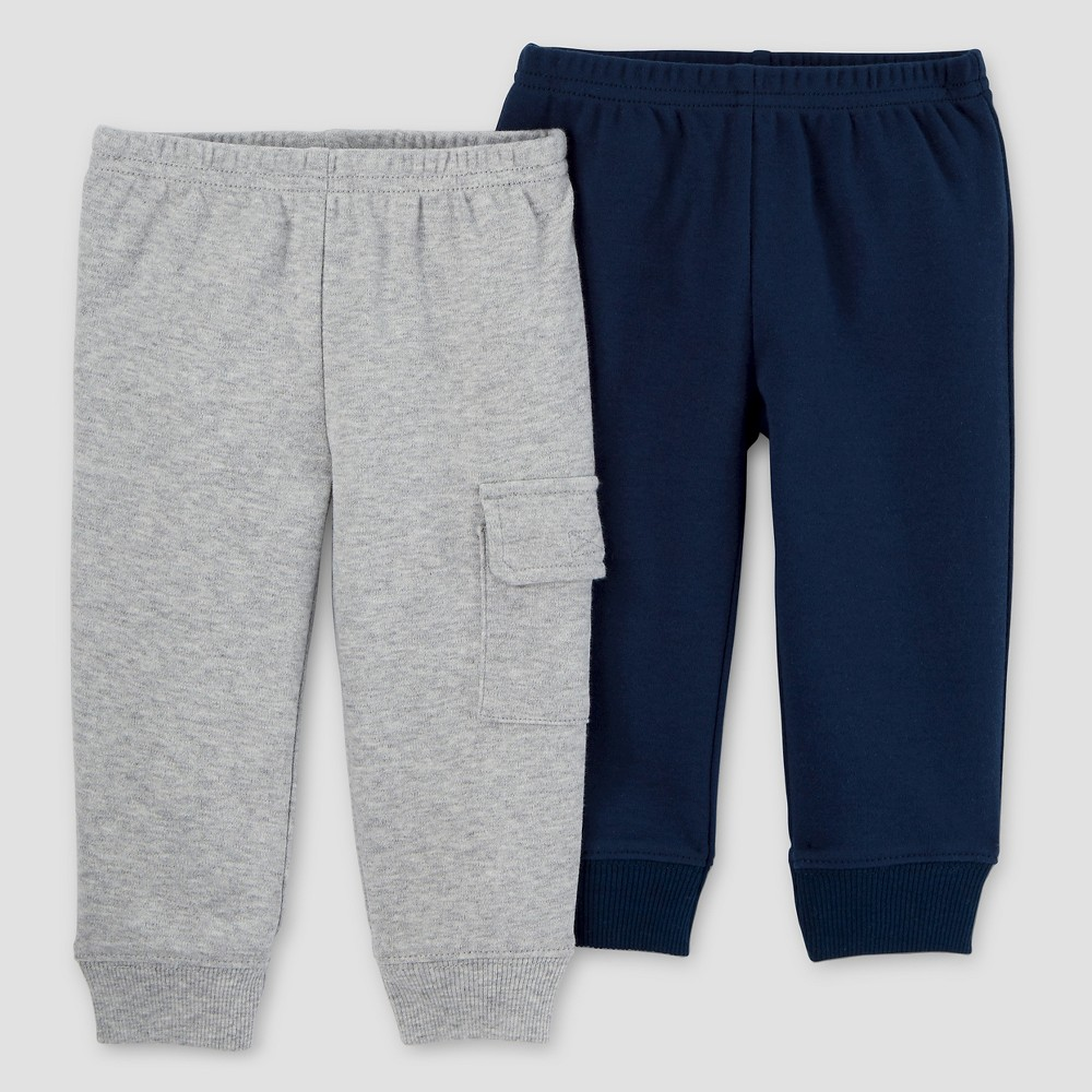 Baby Boys 2pk Pants - Just One You Made by Carters Navy/Gray 9M, Size: 9 M