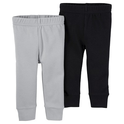 Just One You™ Made by Carter's® Baby Boys' 2pk Pants - Black/Grey 3M