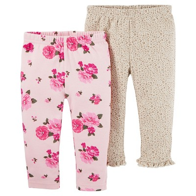 Just One You™ Made by Carter's® Baby Girls' 2pk Floral Pants - Pink 6M