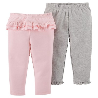 Just One You™ Made by Carter's® Baby Girls' 2pk Ruffle Pants - Pink 3M