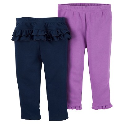Just One You™ Made by Carter's® Baby Girls' 2pk Ruffle Pants - Navy 12M