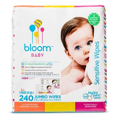 Bloom Baby Wipes - 240 ct