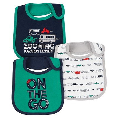 Just One You™ Made by Carter's® Baby Boys' 3pk Car On the Go Bib - Green