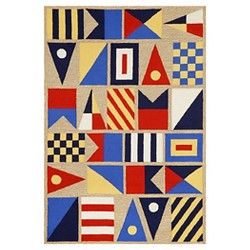 Frontporch Signal Flags Natural Indoor/Outdoor - Liora Manne
