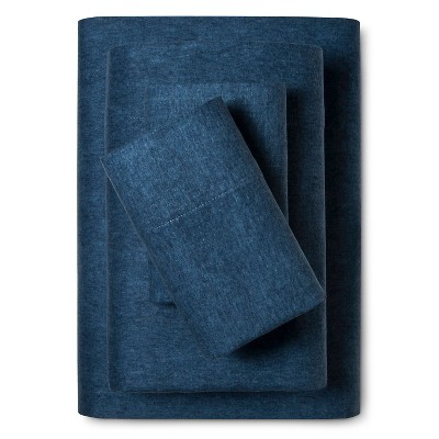 Flannel Sheet Set (Full)Heathered Blue - Threshold™