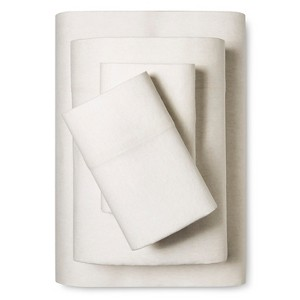 Flannel Sheet Set (Twin) Heathered Ivory - Threshold
