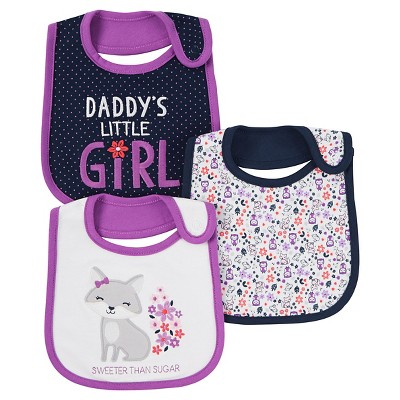 Just One You™ Made by Carter's® Baby Girls' 3pk Sweeter Than Sugar Bib - Purple
