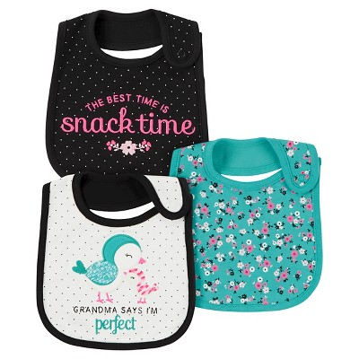 Just One You™ Made by Carter's® Baby Girls' 3pk Bird Grandma Bib - Mint