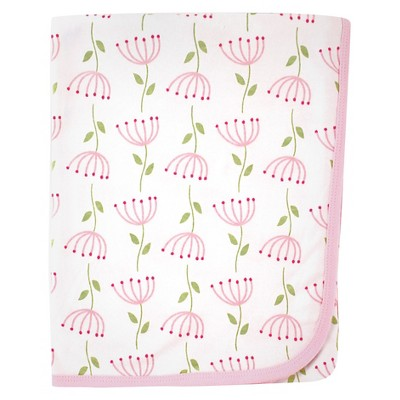 Touched by Nature Organic Cotton Blanket - Pink Flower